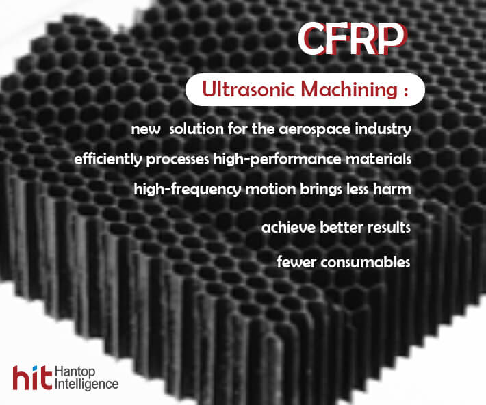 Hantop Intelligence Tech Ultrasonic Machining application in CFRP